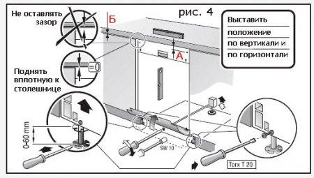 Установка и подключение посудомоечной машины Bosch своими руками